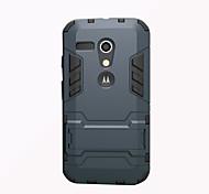 Для Кейс для Motorola Защита от удара / со стендом Кейс для Задняя крышка Кейс для Армированный Твердый PC Motorola