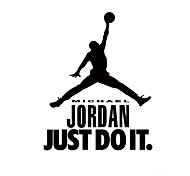 9334 Michael Jordan Basketball Player Wall Stickers For Kids Room DIY Home Decorations Just Do It Wall Decals