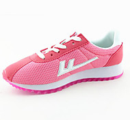 Velvet Rubber Student Shoes Sweet Candy Color Mesh Woman Casual Shoes