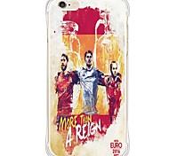 IPhone 6s плюс / 6 / iphone 6S / 6 звезда футбола TPU&силиконовая мягкая задняя крышка