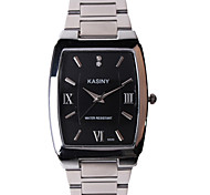 Men's Waterproof Square Steel Band Quartz Watch