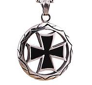 литье титана щит крест кулон ожерелье