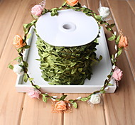 200 Meters of Fabric Quality Simulation Green Leaf Wicker Rattan DIY Braided Wire Wreath Material Greenery