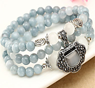 Natural blue crystal bracelet multi-turn
