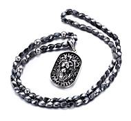 Муж. Ожерелья с подвесками В форме животных Лев Нержавеющая сталь По заказу покупателя Бижутерия НазначениеПовседневные Новогодние