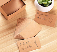 Simple Diy Retro Nostalgia Kraft Paper Postcard Blank Card Creative Word Graffiti Message Card Box Custom