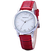 REBIRTH® Women's Simple Fashion Watch PU Leather Strap Quartz Casual Wrist Watch