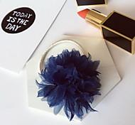 Women's Flower Girl's Fabric Flower Hair Tie