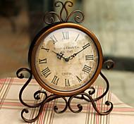 (Cor aleatória) relógio de moda do vintage de mesa de ferro com o movimento do relógio silenciosa casa artesanato decoração relógio