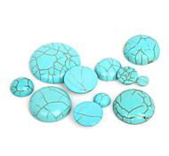 beadia 20pcs turquesa sintética cabochons cúpula de piedra de 14 mm perlas