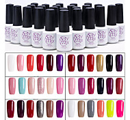 Sexymix 6PCS Gel Nail Polish Set 7ml UV Gel Shining Color Varnish Long Lasting