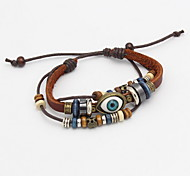 Women Leather Coffee Eye Leather Bracelets