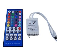 RGBW 40Key Infrared Connect Wireless IR Remote Controller 2A*4 Channel for Strip(DC 12-24V)