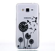 TPU Material Black Dandelion Pattern Cellphone Case for Samsung Galaxy J710/J510/J5/J310/G530/G360