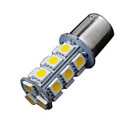 2 X Warm White 1156 BA15S 18-SMD 5050 Turn Signal Backup Reverse LED Light bulbs