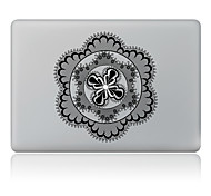 Black Flower Decorative Skin Sticker for MacBook Air/Pro/Pro with Retina