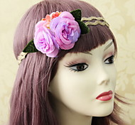 Bohemia Beautiful Rose Flower Wreaths Headband for Lady Wedding Party Holiday Hair Jewelry