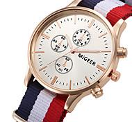 Муж. Наручные часы Кварцевый / Материал Группа Повседневная Белый Синий Красный
