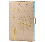 The New Color Embossed Dandelion PU Leather Case Cover for iPad Mini 1/2/3