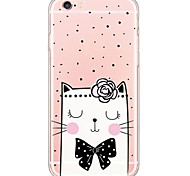 Cute Cartoon Cat Pattern TPU Ultra-thin Translucent Soft Back Cover for Apple iPhone 6s Plus/6 Plus/ 6s/6/ SE/5s/5