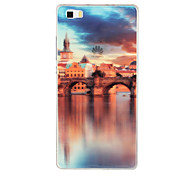 High-quality Beautiful Scenery Pattern TPU Soft Shell For Huawei P8 Lite