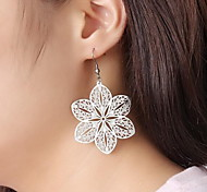 Earring Flower,Jewelry 1 pair Fashionable Stainless Steel Silver Daily / Casual