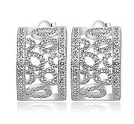 Women's Fashionable Elegant 925 Silver Plated Earrings