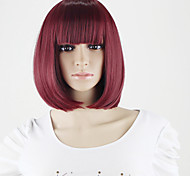 a buon mercato parrucche sintetiche coreani con scoppi donne caschetto corto negozio di parrucche il vino rosso all'ingrosso breve