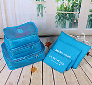 Travel Waterproof Storage Bag Set On Business Trip Travel Necessary Luggage Underwear Finishing Bag Six 6 Sets