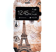 Eiffel Tower Pattern Window Clamshell PU Leather Case with Stand and Card Slot for iPhone 7 Plus 7
