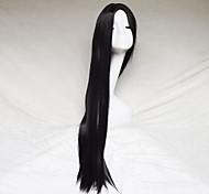 cosplay peruca cor preta esculpir um metro de comprimento peruca de cabelo reto