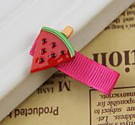 Women's Flower Girl's Plastic Red Watermelon Hair Clip