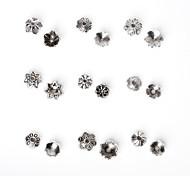 beadia 325pcs смешанный стиль 9&размеров антикварные серебряные шарики сплава крышка металла цветок шарики прокладки