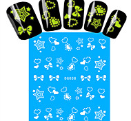 1pcs Nail Art Water Transfer Noctilucent Sticker Beautiful Star Heart Bow-knot Decoration Nail Beauty DG-038