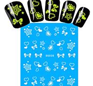 1pcs Nail Art Water Transfer Noctilucent Sticker Beautiful Star Heart Bow-knot Decoration Nail Beauty DG-038