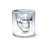 Cool Transparent Creative Scary Skull Head Design Novelty Drinkware Wine Shot Glass Cup 250ML