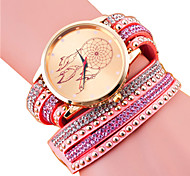 Women's Fashion PU Casual Quartz Bracelet Watch