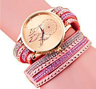 Women's Fashion PU Casual Quartz Bracelet Watch