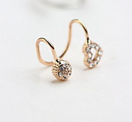 Fashion People Delicate Ear Clip Set Auger Ball Love