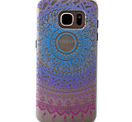 3D Relief Feel Colour Gradient Lace Flowers Pattern PC Material Phone Shell for Samsung Galaxy S7 S7 Edge