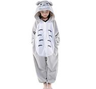 Kigurumi Pijamas nueva Cosplay® / Gato / Totoro Leotardo/Pijama Mono Halloween Ropa de Noche de los Animales Gris Retazos Lana Polar