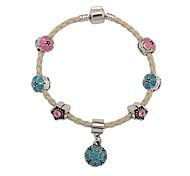 Bracelet Charmes pour Bracelets / Bracelets de rive / Loom Bracelet Cuir / Tissu Forme de Cercle / Others Mode / Bohemia style / Adorable