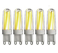 5 G9 Luces LED de Doble Pin T 4 COB 350 lm Blanco Cálido / Blanco Fresco Regulable AC 100-240 V 5 piezas