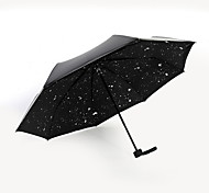 Star Men And Women, Sunny Umbrellas Folded Umbrella Uv Sun Umbrellas Folded Vinyl Black Umbrella