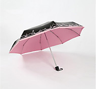 Five Folding Umbrella Creative Uv Vinyl Shade Sun Sunny Umbrella Pocket Umbrella Phone