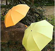 Fruit Color Plastic Three Folding Umbrella Sun Umbrella Uv Sun Umbrellas Clear Umbrellas Dual
