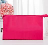 Solid Color Plaid Makeup Bag Simple Bathroom Bag Portable Net Wash Bag