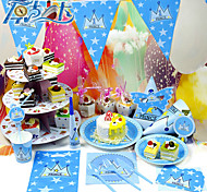 1set Plastic Tableware Sets Prince Crown