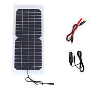 10W 18V Portable Monocrystalline Solar Panel Car Automobile Rechargeable Power Battery Charger (SWR1018C)