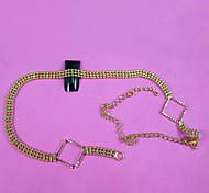 27Cm  Gold  Mini Shiny Rhinestones Chain Nail Studs Charming Nail Jewelry